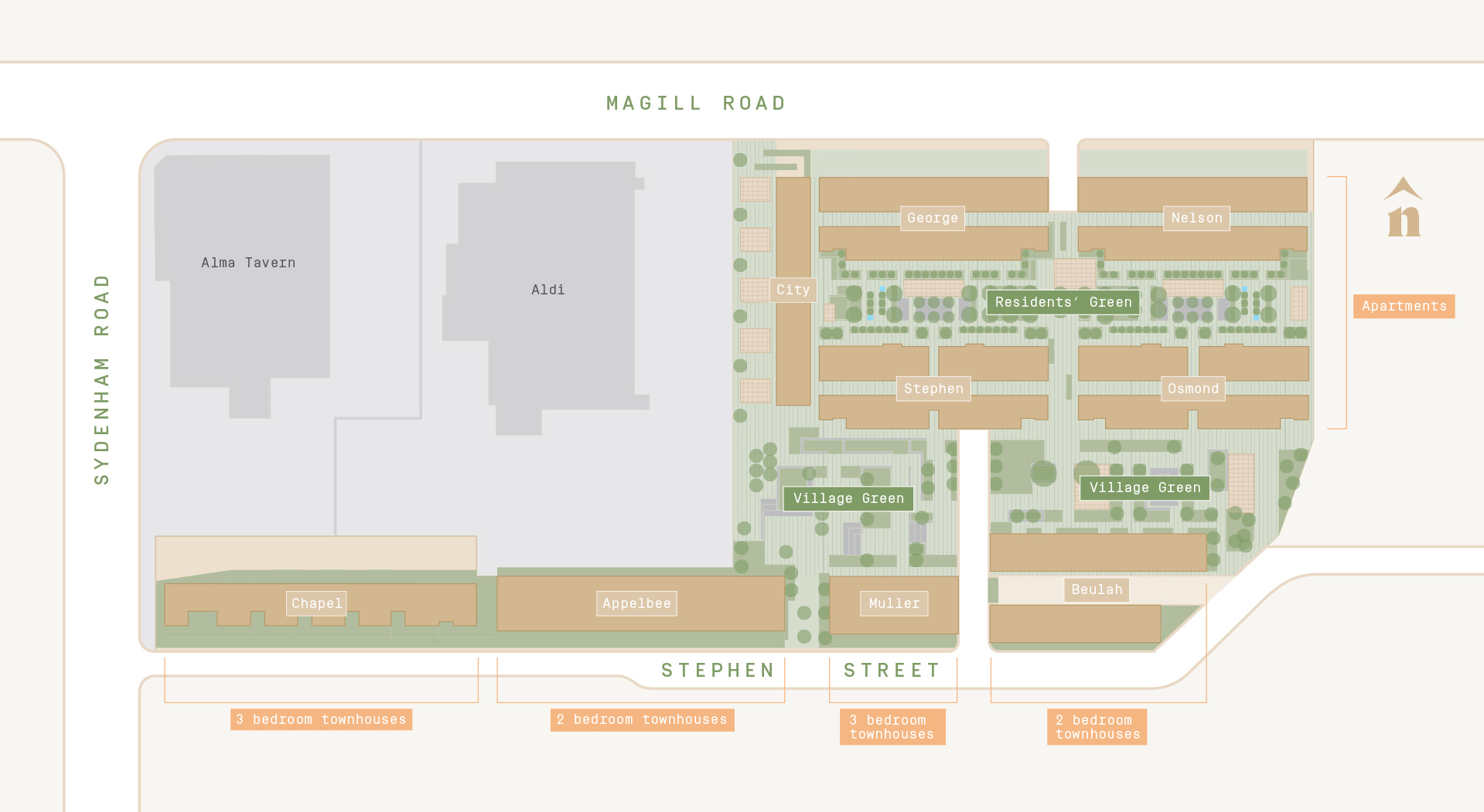 map of norwood green site