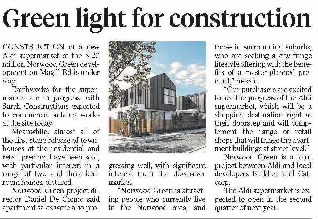 Green light for construction